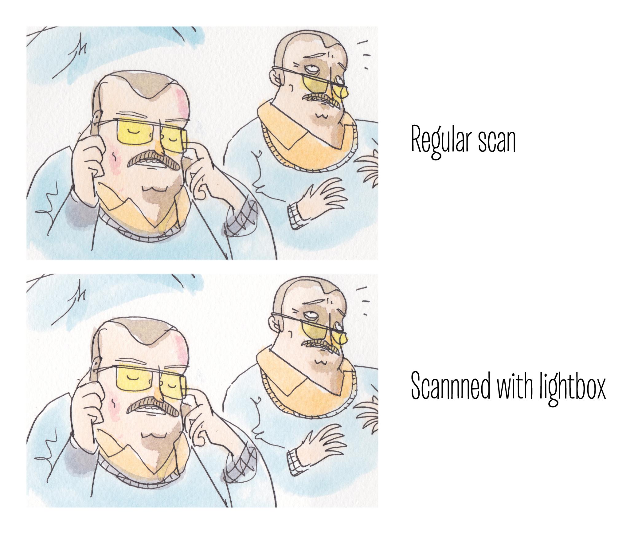 lightbox scan